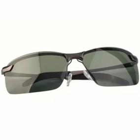 Óculos De Sol Luxo Armação De Metal Cinza Lentes Polarizadas