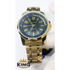 Relógio De Pulso Original Masculino Dourado Promoção G3404