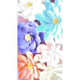 Flores Gigantes Para Decoracion En Goma Eva