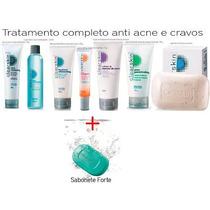 Kit Completo Avon Clear Skin: Cravos E Espinhas-8 Itens