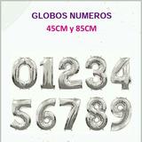 Globos De Números Al Mayor Y Detal 45 Cm