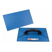 Kit Com 2 Unid Desempenadeira Azul Lisa 18x30 Para Reboco