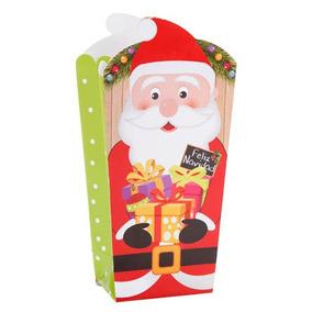 50 Cajitas Palomitas Navidad Santa Claus Dulces Palomeras