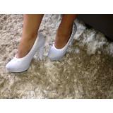 Capa Fashion Para Sapato Meia Pata - Branco Noiva Perolas