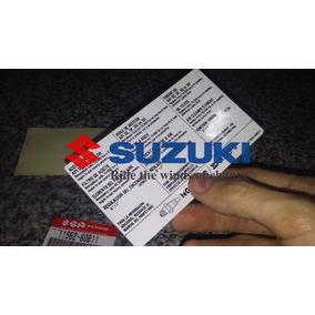Sticker Calco Informativa Suzuki Swift Bajo Capot