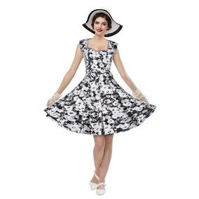 Zaful De La Moda Retro De La Impresión Floral Vestido De Ta