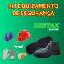 Kit Epi Equipamentos De Segurança 06 Peças - Botina Nº39