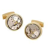 Gohuos Steampunk Reloj Movimiento Gemelos Mecánicos Viejo V