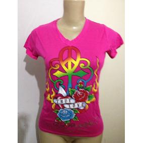 Camiseta Ed Hardy M Gola V+kit Básico Manicure Ana Hickmann