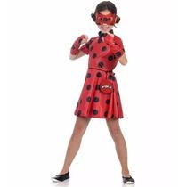 Fantasia Ladybug Infantil Vestido Miraculous Original
