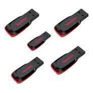 Paquete 5 Pzas Usb 16gb Sandisk Flash 2.0 Sdcz50-016g-b35