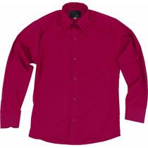 Camisa Vestir Infantil Juvenil Bailables Vino 2 A 16