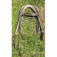 Redeas E Cabeçada Para Cavalo Em Couro Bufalo