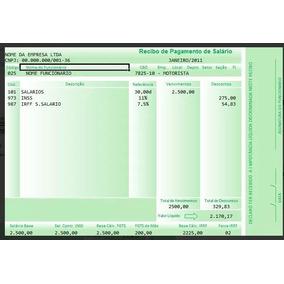 Recibo Contra Cheque - Holerite - Salario -editável - Vale-