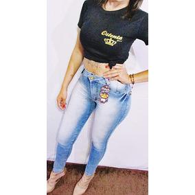 Calça Jeans Feminina Skynni Lycra Lançamento Cintura Alta