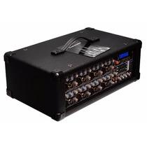 Mezcladora Amplificada 8ch Entradas Usb Sd Ecualizador Graf.