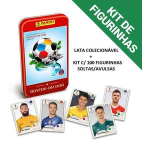 Kit Figurinhas + Lata Colecionável Copa Do Mundo Rússia 2018