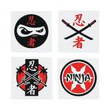 Fun Express Tatuajes Surtidos De Ninja Warrior Temporal -
