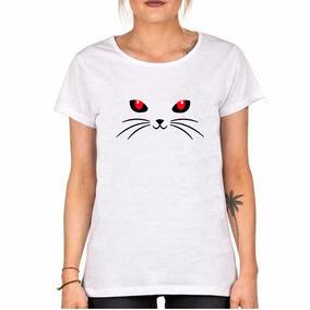 Remera Gato Cat Michi Mascota Pet Ojos Rojos Bigotes Envios!