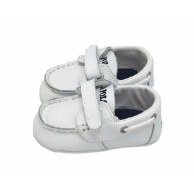 Zapato Para Bebé Polo Ralph Lauren Blanco Con Detalle Blanco