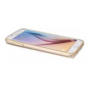 Funda Bumper De Aluminio Linea Gold Para Galaxy S6