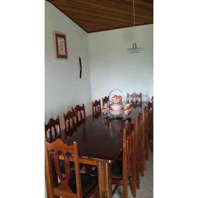 Mesa De Madeira Nobre Estilo Colonial Com 12 Cadeiras