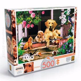 Quebra Cabeça Puzzle Bichos Na Varanda Animais 500 Peça Grow