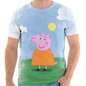 Camiseta Camisa Personalizada Peppa Pig Mamãe Peppa Desenho