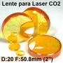 Lente Laser Co2 Corte Grabado D 20mm F 50.8mm Pantografo Cnc