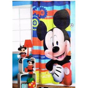 Cortina Con Ojillos Mickey Mouse Infantil Envio Gratis