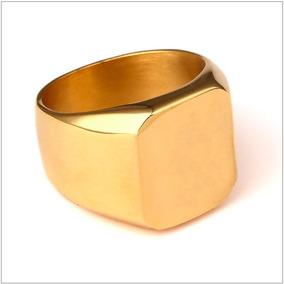 Anel De Ouro Masculino Quadrado Ouro 18k 0.750 Novo