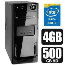 Pc Cpu Intel Core I5+4gb Ram+hd 500gb! Gta V, Jogos, Edição!