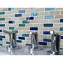 Malla Bizantina 30x30 Travertino Vidrio Azul-cobalto-agua Ma