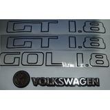 Kit 2 Adesivos Gt 1.8 + Gol 1.8+ Volkswagen + Vw 84/86 - Bre