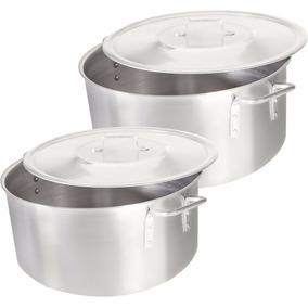 Kit Caçarola Panela Grande Industrial Aluminio N34 + N36