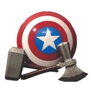 Avengers-hacha Thor +martillo +escudo Capitán América E.full