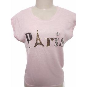 Camiseta Feminina Estampada Blusa Manga Curta De Viscolycra