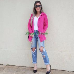 Casaco Frio Roupas Femininas Blusas Renda Inverno Moda 8047