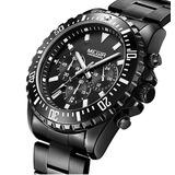 Reloj Megir Cronógrafo Acero Inoxidable Color Negro