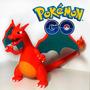 Pokemon Charizard Miniatura 15cm Em 3d Pintado A Mão