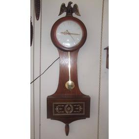 Vintage United Electric Eagle Banjo Relógio Com Pêndulo- 03l