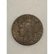 Moeda Antiga 1894 França 50 Centimes Prata