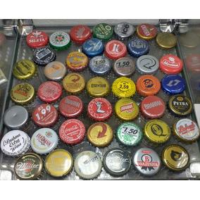 Lote 100 Tampinhas De Cerveja Variadas Coleção Artesanato