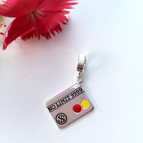 Berloque Cartão De Crédito Em Prata