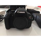 Super Combo Cámara Canon Rebel T5i + Flash Sigma Como Nuevos