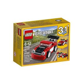 Lego Creator - Carro De Corrida Vermelho (3 Em 1) - 72 Peças