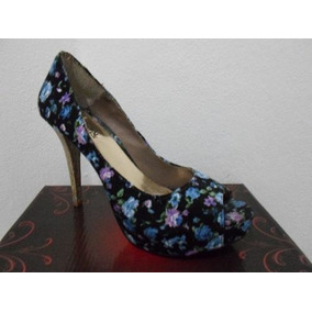 Feminino Peep Toe Floral - Tam: 37