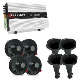 Kit P/corneteira 4 Driver + 2tw + Amplificador Taramps Ts400