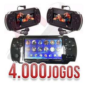 Mini Game Nova Portátil 4000mil Jogos Player Mp3 Mp4 Mp5