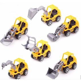 Kit Box Com 6 Tratores De Brinquedo Mini Tratores